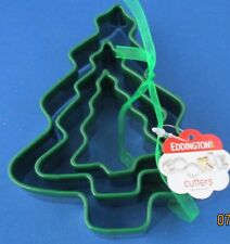 EDDINGTONS STAINLESS STEEL CHRISTMAS TREE BISCUIT PASTRY COOKIE CUTTER X 3