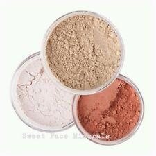 3pc MINERAL MAKEUP SET (DEEP TAN) Bare Skin Kit Powder Matte Foundation Organic