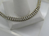 Solid 14k Yellow Gold Round 2.35 CTW Diamond Panel Link Tennis Bracelet 6-5/8""