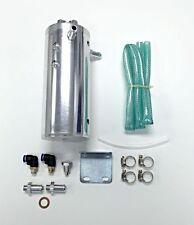 Universal Mount Billet Aluminum Round Oil Cooler Can 2.1 Pints/ 34oz Performance