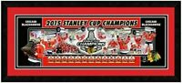 """Chicago Blackhawks 2015 Stanley Cup Champions Photo (Size: 18.5"""" x 42.5"""") Framed"""