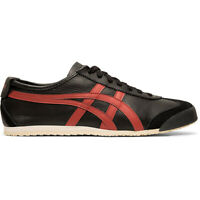 ASICS Men's Onitsuka Tiger Mexico 66 Black/Burnt Red Sneakers 1183A201.002 NEW