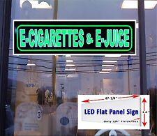 LED Sign E  CIGARETTES  JUICE window sign 48x12 neon banner alternative LED
