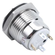 Dc3V Blue Illuminated Led 16Mm Metal Momentary Push Button Switch Spst H8Z7