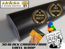 3M x 1.5M 3D Black Carbon Fibre Fiber Vinyl Wrap w/Air Release Bubble Free
