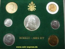 *** LIRE KMS VATIKAN 1992 BU Lira Coin Set Vaticano Münzen vor Euro ***