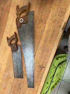 Vintage Slack Sellars & Co sheffield speed saw & Disston saw