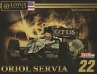 2012 Oriol Servia signed Dreyer & Reinbold Lotus Dallara Indy Car postcard