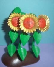 Playmobil - 3 Golden Girasoles en una base (farm/animal/zoo / Jardín) - Nuevo