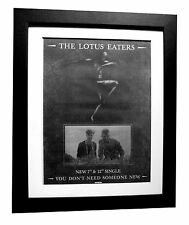 LOTUS EATERS+You Don't Need+POSTER+AD+RARE+ORIGINAL 1983+FRAMED+FAST GLOBAL SHIP