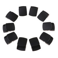 10pcs Cam Lock Webbing Buckles ABS Plastics Strap Clasps Anti-Slip Locks