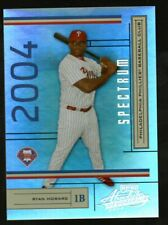 RYAN HOWARD PHILLIES - 2004 PLAYOFF ABSOLUTE SPECTRUM - ROOKIE RC - 17/100