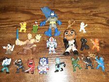 Mixed lot of 19 small toys - Batman Robin Obi Wan Ghostbusters Transformers...