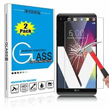 2X LG V20 Screen Protector Ultra Thin 0.3mm 9H Hardness Tempered Glass Screen