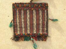 Vintage Baluchi Multi Technique Kilim Brocade Complete Cargo Bag Face & Back