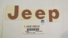 """New OEM Med Spice Metallic """"Jeep"""" Wrangler Decal Letter Kit 5AS15MU2"""