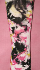 Tie Dye Tights. Footless pink black yellow Hippy Goth 8-12 festival
