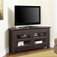 Corner TV Stand Media Cabinet Storage Console Home Entertainment Center Wood NEW