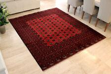 Vintage Afghan Bashir Turkoman Bokhara HandWoven Wool Rug Carpet Tapis 8' X 6.7'