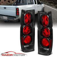 1986-1997 Black Rear Brake Tail Lights Pair For Nissan Hardbody Pickup D21 JDM