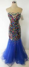 NWT RIVA DESIGNS R9550 Royal $398 Formal Prom Gown 8
