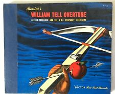 """Rossini William Tell Overture Victor Red Seal 2 10"""" Records Toscanini DM-605"""
