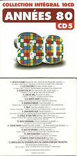 CD - ANNEES 80 avec PETER ET SLOANE, ECRAN TOTAL 80, BILLY, SOPHIE FAVIER KIMERA
