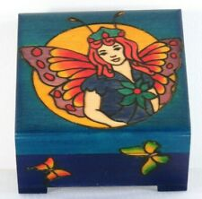 Fairy Wooden Box Handmade in Poland, Keepsake/Jewelry Child or Adult Nos