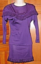 NOTORIOUS VINTAGE 2 PIECE LONG SLEEVE DRESS SIZE XSMALL