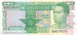 Ghana 1 Cedi 1982 Unc pn 17b