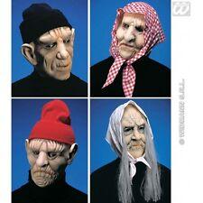 Old MAN / Woman maschera con copricapo per anziani NONNA OAP FANCY DRESS ACCESSORIO
