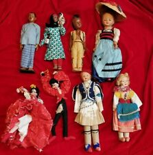 1950s World Wide Doll Club Collection Lot Isreal Spain Swiss Antique vtg Figure
