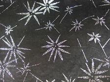 Fabric Black Stretch Velvet with Silver Glitter, Dance Price per Metre, New