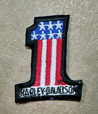 Harley Davidson sew on patches, #1 American flag