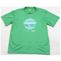 XL Hoka One One Green Graphic Marathon Crewneck Tee T-Shirt Top Short Sleeve