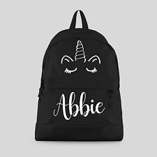 Personalised Kids Backpack - Any Name Unicorn Girls Back To School Bag #CBPU2