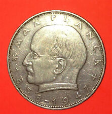1970-F Republic of Germany Two Mark Coin-MAX PLANCK-X Fine-Good Strike