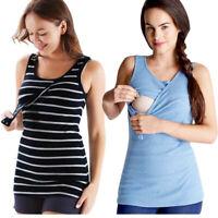 Women Maternity Summer Sleeveless Tops Blouse T Shirt Nursing Pregnant Vest Tank