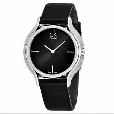 Calvin Klein Women's Skirt Black Dial Black Leather Strap Quartz Watch K2U231C1