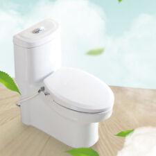 Non-Electric Bidet Toilet Seat for Elongated Toilet, Easy Installation, White