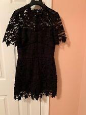 Women's Adelyn Rae Jumpsuit Evening Black Lace Mini 34/28/36 32 long