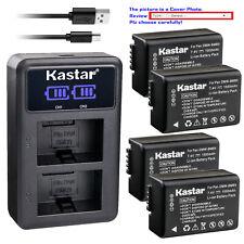 Kastar Battery LCD Dual Charger for Panasonic DMW-BMB9 & Panasonic Lumix DC-FZ80