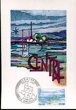 carte postale timbre premier jour région centre 1976