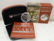 2013 Australian Lunar Year Of The Snake Colorized 50¢ 1/2 Oz. Silver Proof Coin