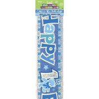 Happy 1st Birthday 12ft Party Banner Boys Birthdays Parties Banners Decorations