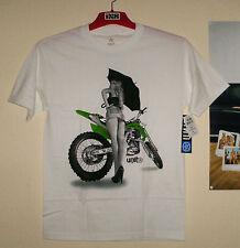UNIT Riders Cheeky T-Shirt Weiß M Kawasaki NEU Cross Enduro Motiv KX-F FMF Thor
