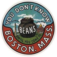Boston, Mass -Vintage 1960's Style Travel Decal/Sticker