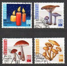 Switzerland - 1994 Pro Juventute: Mushrooms Mi. 1536-39 FU