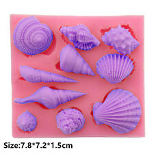 Ocean Shells Silicone Cake Mould Fondant Sugar Craft Chocolate Decorating Tool