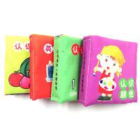 Chiffon Doux Livre Jouet pour Bébé Enfant Livre Jouets Éducation Cadeau